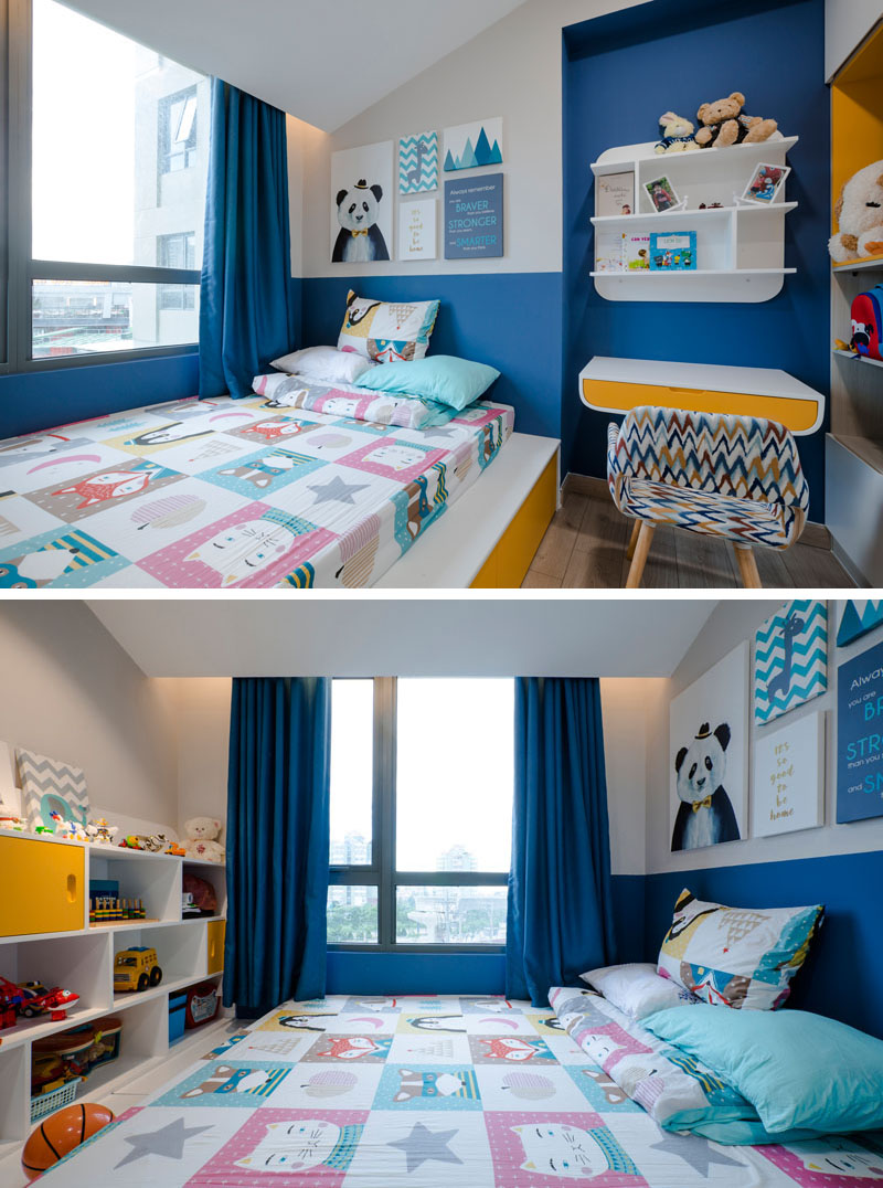 blue-white-yellow-kids-bedroom-020518-1253-08 Fantastic Blue And Yellow Decorating Ideas Keep This Small Apartment Fun And Bright Interior