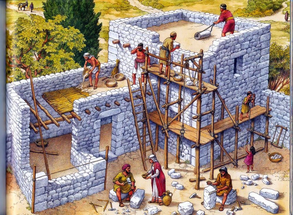 Artesan a en el bel n arquitectura hebrea en tiempos de jesus - Casas para belenes hechas a mano ...