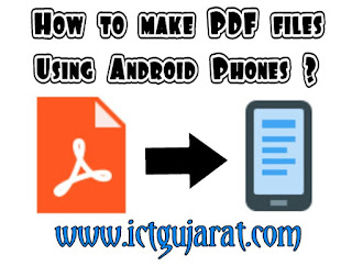 How to make pdf file using android phones wps office ICT Gujarat