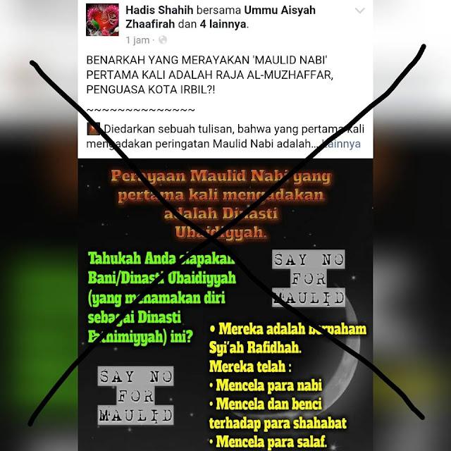 Meluruskan Fanpage Wahabi yang Mengatakan Maulid Nabi Ciptaan Syiah