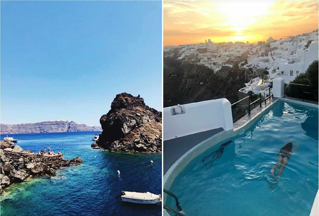 swimming in Santorini, best beaches