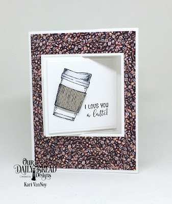 Our Daily Bread Designs Stamp/Die Duos: Hug In A Mug, Custom Dies: Lever Card, Lever Card Layers, Paper Collection: Latte Love