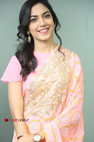 Actress Ritu Varma Pos in Beautiful Pink Anarkali Dress at at Keshava Movie Interview .COM 0096.JPG