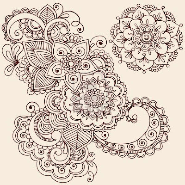 Henna Tattoo Coloring Pages Cooloring Com Hamsa Henna Tattoo With