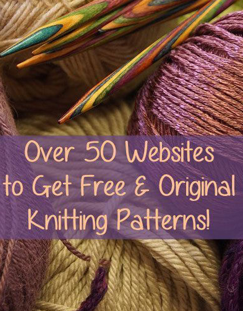 Over 50 Websites to Get Free Knitting Patterns
