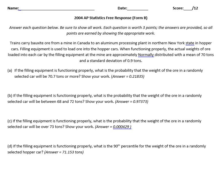 EHHS AP Stat