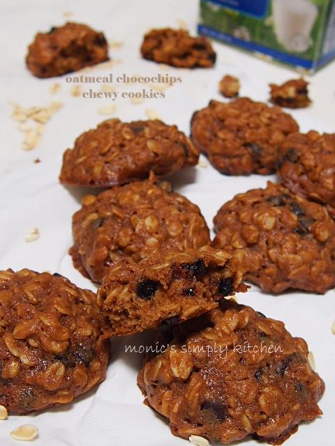 resep kukis oatmeal chocochips