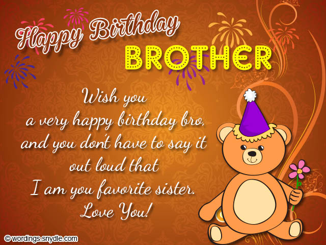 Happy Birthday Wishes To My Brother Quotes: Happy Birthday Wishes Poem For Brother