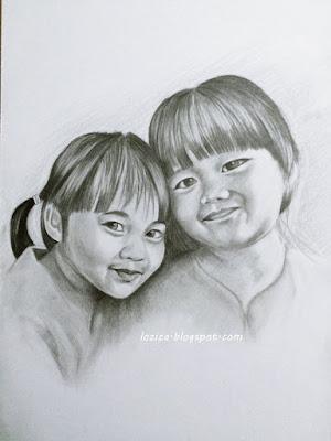 tempah lukisan potret