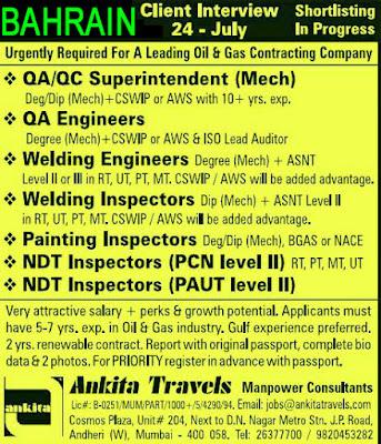 QA QC Engineer NDT Technician Job Interview Ankita Travels