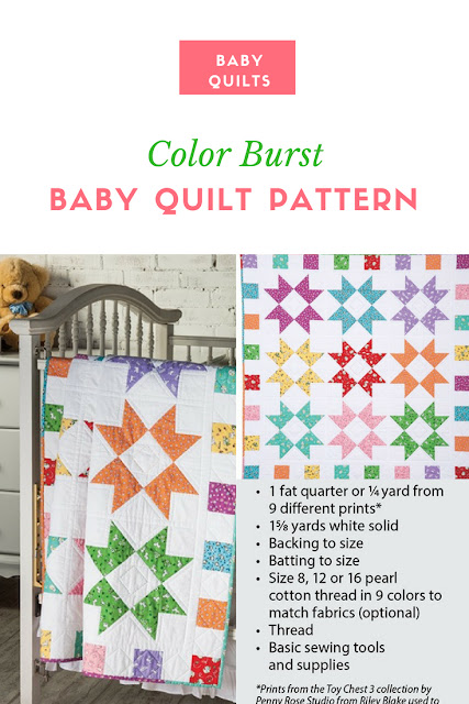 Easy Quilting Patterns Color Burst Quilt Pattern