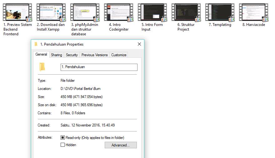 DVD Tutorial Membuat Website Portal Berita dengan