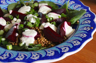Beetroot Salad with Lentils