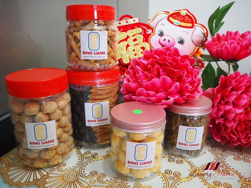 bing liang chinese new year goodies review