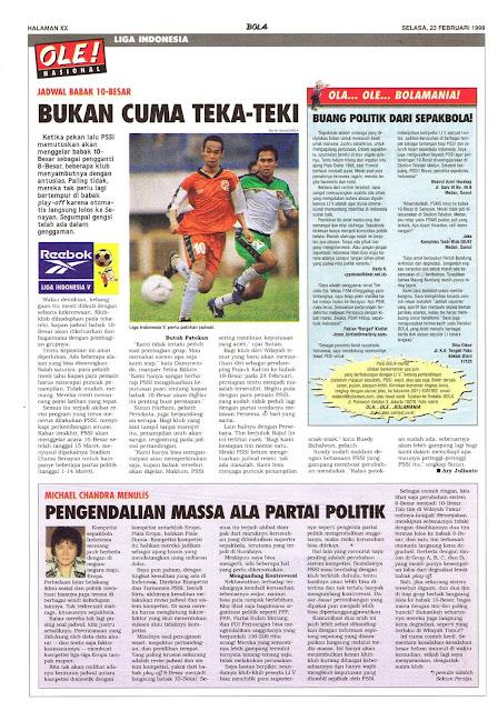 JADWAL BABAK 10-BESAR LIGA INDONESIA V
