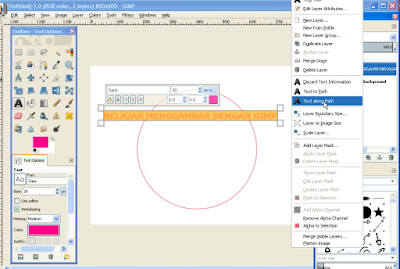 Membuat Teks / Tulisan Melengkung di GIMP5