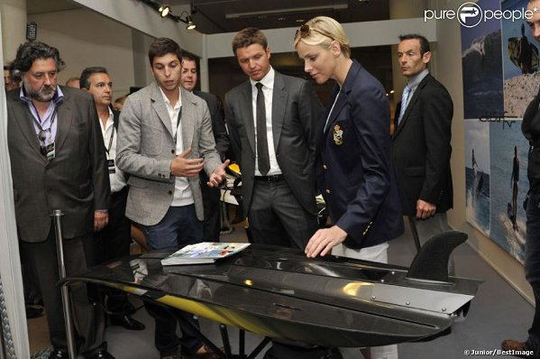 Princess Charlene of Monaco visited the Top Marques event in Monaco together with her brother Gareth.