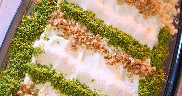 طريقة عمل ليالي لبنان بالفستق من مطبخ منال العالم