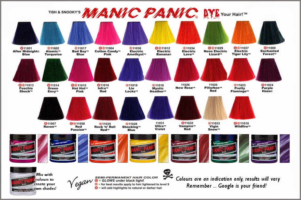Hair Colour With Manic Panic