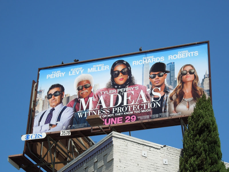 Madeas Witness Protection billboard