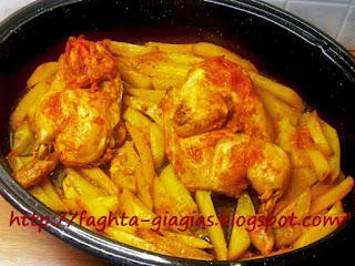 Κοτόπουλο μαριναρισμένο σε σάλτσα ντομάτας, ψητό στη γάστρα - από «Τα φαγητά της γιαγιάς»