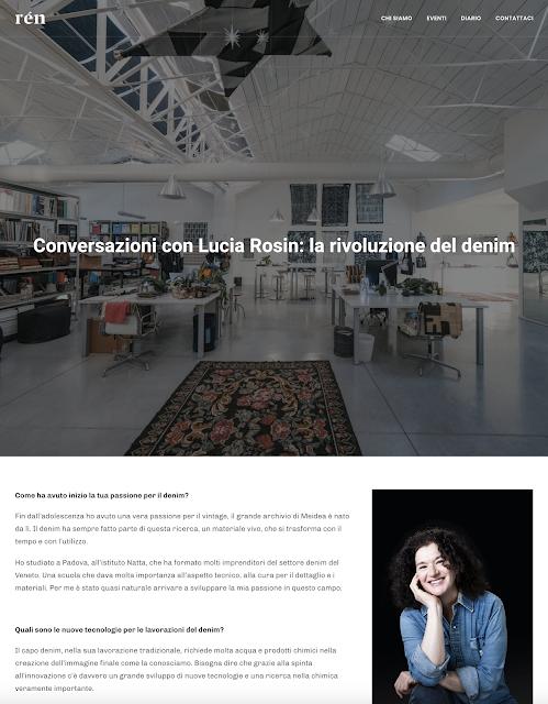 Conversazioni con Lucia Rosin: la Rivoluzione del denim