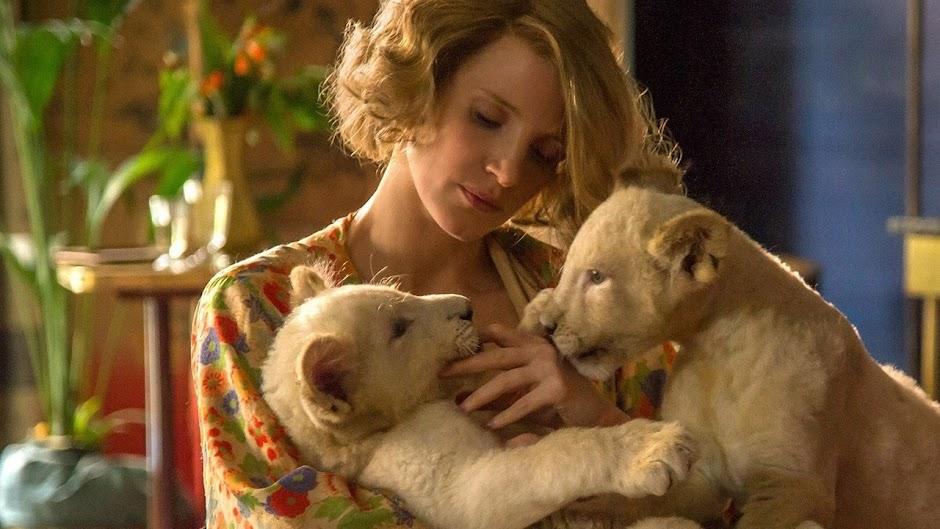 """Jessica Chastain no trailer de """"O Zoológico de Varsóvia"""""""