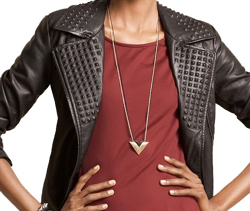 Leather Spike Stud Motorcycle Jacket Faux
