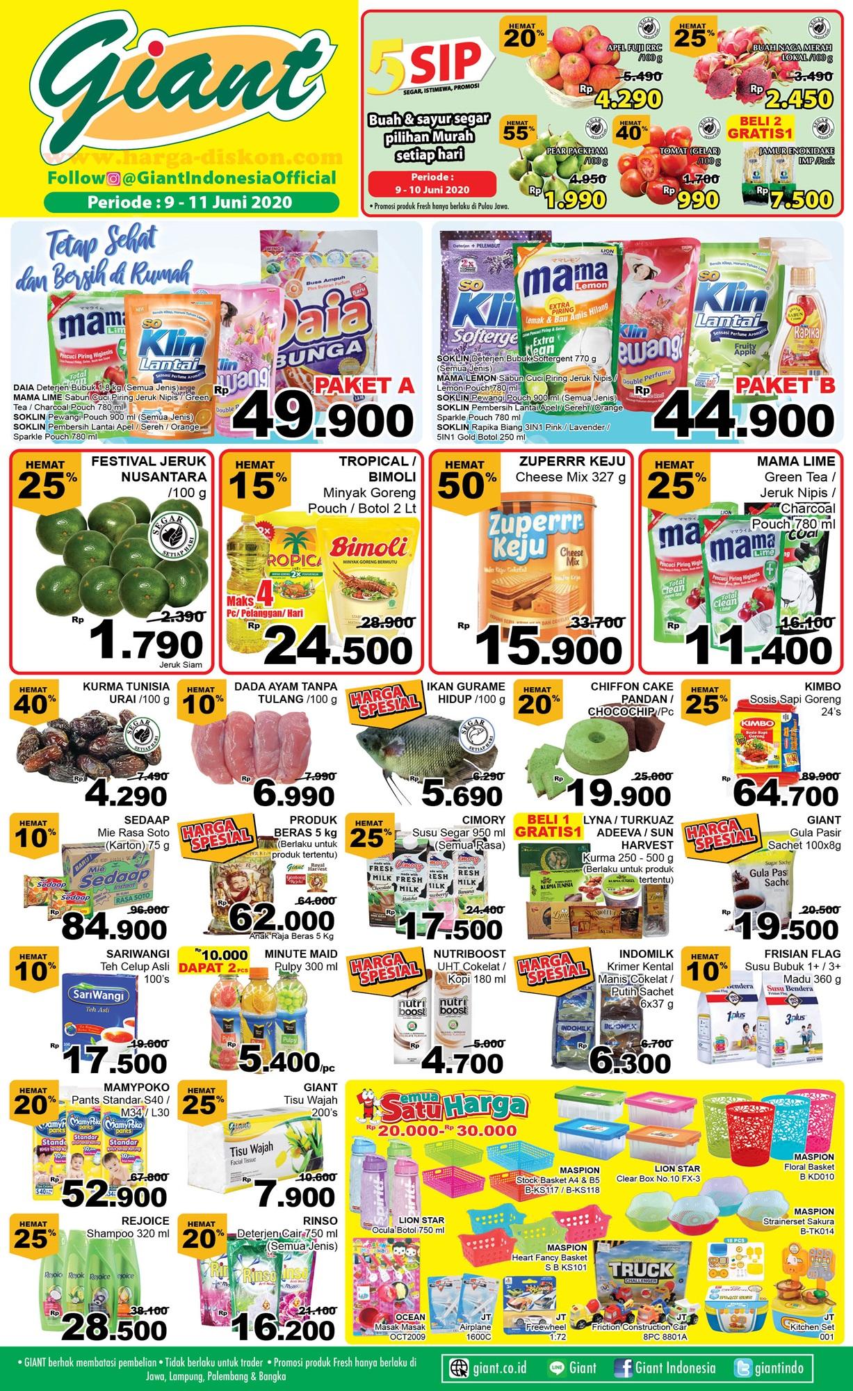 Promo Di Supermarket Giant Mulai 9 11 Juni Hemat Sampai 50 Persen Dari Buah Sampai Elektronik Halaman All Warta Kota