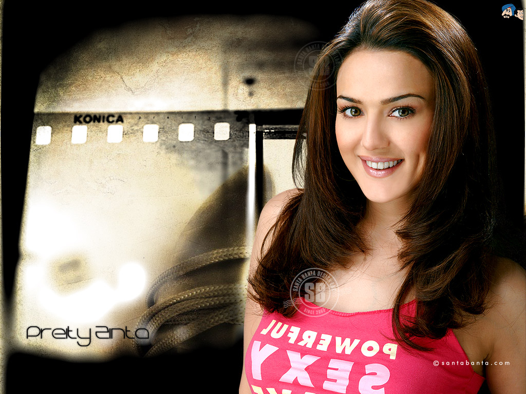 Hollywood  Bollywood Preity Zinta Wallpapers-7960