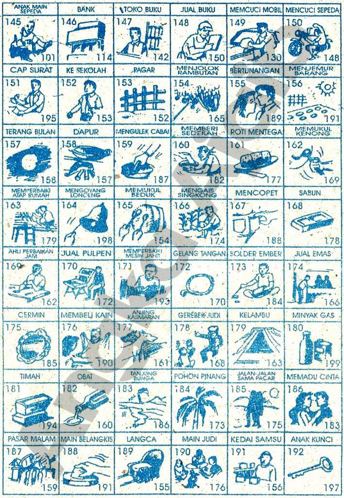 Tafsir Mimpi 3D Bergambar, Buku Mimpi 3D Bergambar, Buku Erek Erek 3D Lengkap  145 192