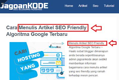 menulis artikel seo friendly