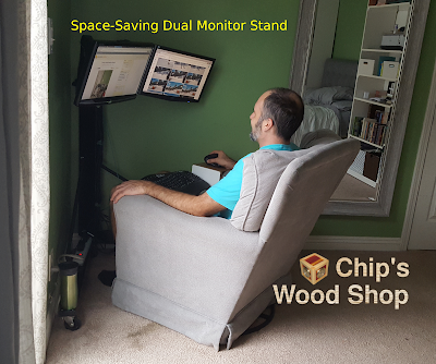 Space-Saving Dual Monitor Stand