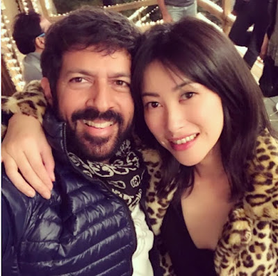Kabir Khan, Chinese actress Zhu Zhu, on the sets of Tubelight