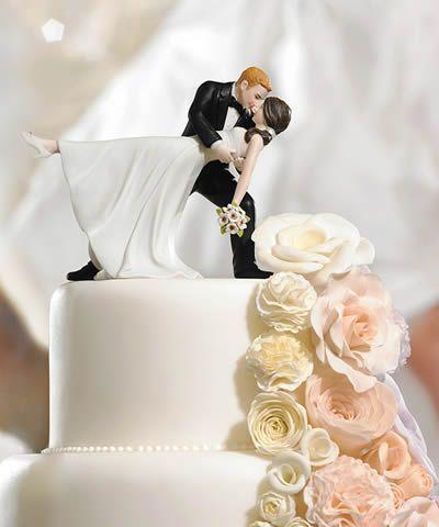 topo de bolo romantico