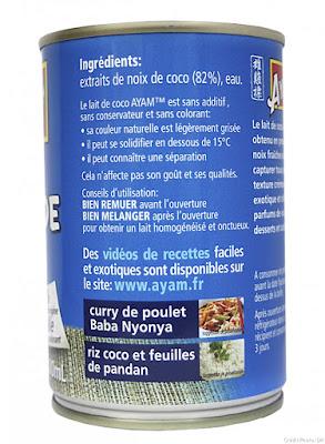 lait de coco Ayam
