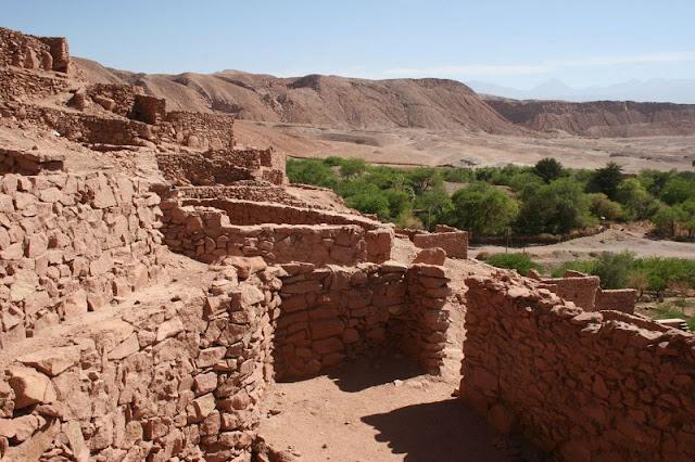 Sítio Arqueológico Pukará de Quitor no inverno