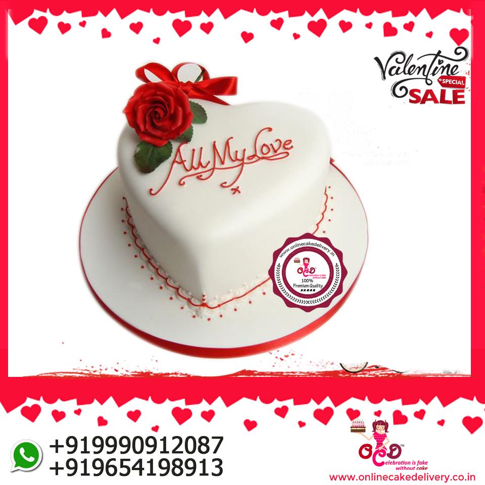 7 Valentines Day Cake Delivery Online Birthday OCD Pinki