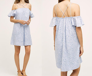 Anthropologie Dayflower Dress. Favourite off the shoulder fashion style