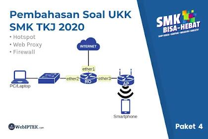 Penyelesaian dan Pembahasan Soal UKK TKJ 2020 Paket 4