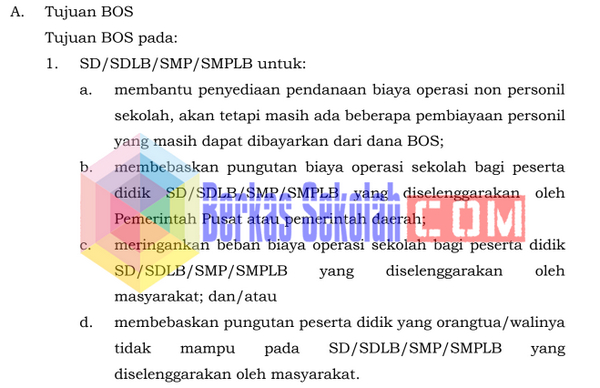 Juknis BOS Tahun 2018 PDF SD SMP SMA SMK