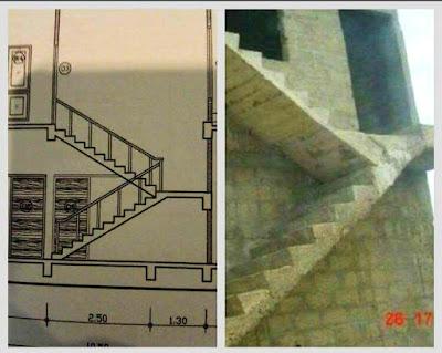 Ukážka sfušovaného schodiska