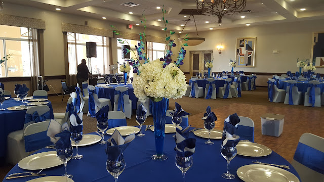 royal blue and silver wedding by eventsojudith