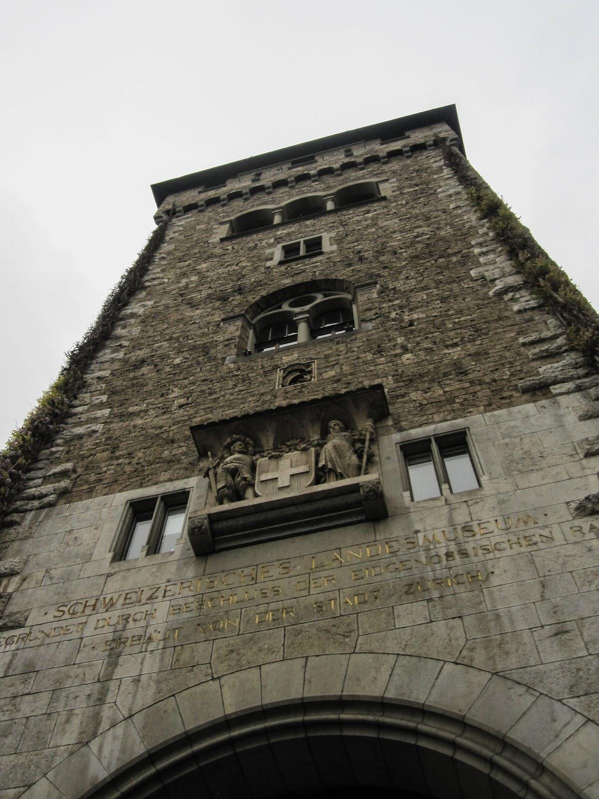 Zürich, Swiss National Museum and Climbing Grossmünster.
