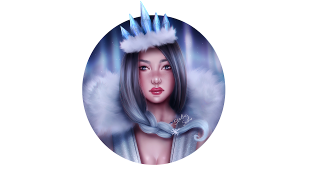 Winterland Queen - Digital Painting Art