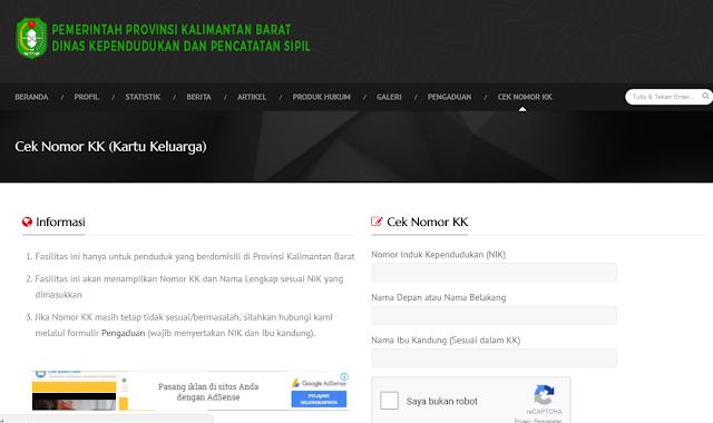 Cara Cek NO KK Online Berdasarkan Nama dan NIK