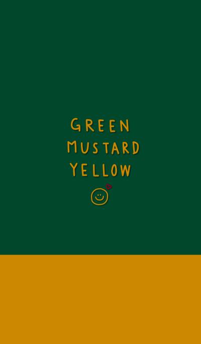 green and mustard yellow
