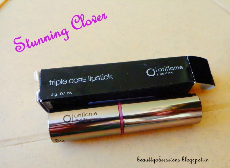 "Oriflame Tripple Core Lipstick ""Stunning Clover"" Review"