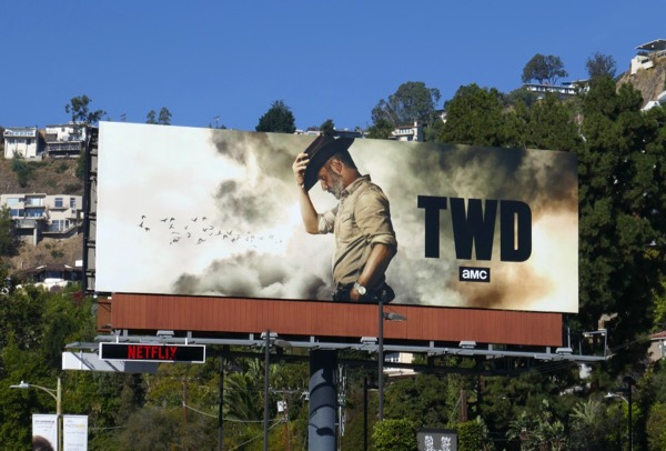 Walking Dead Rick Grimes farewell billboard