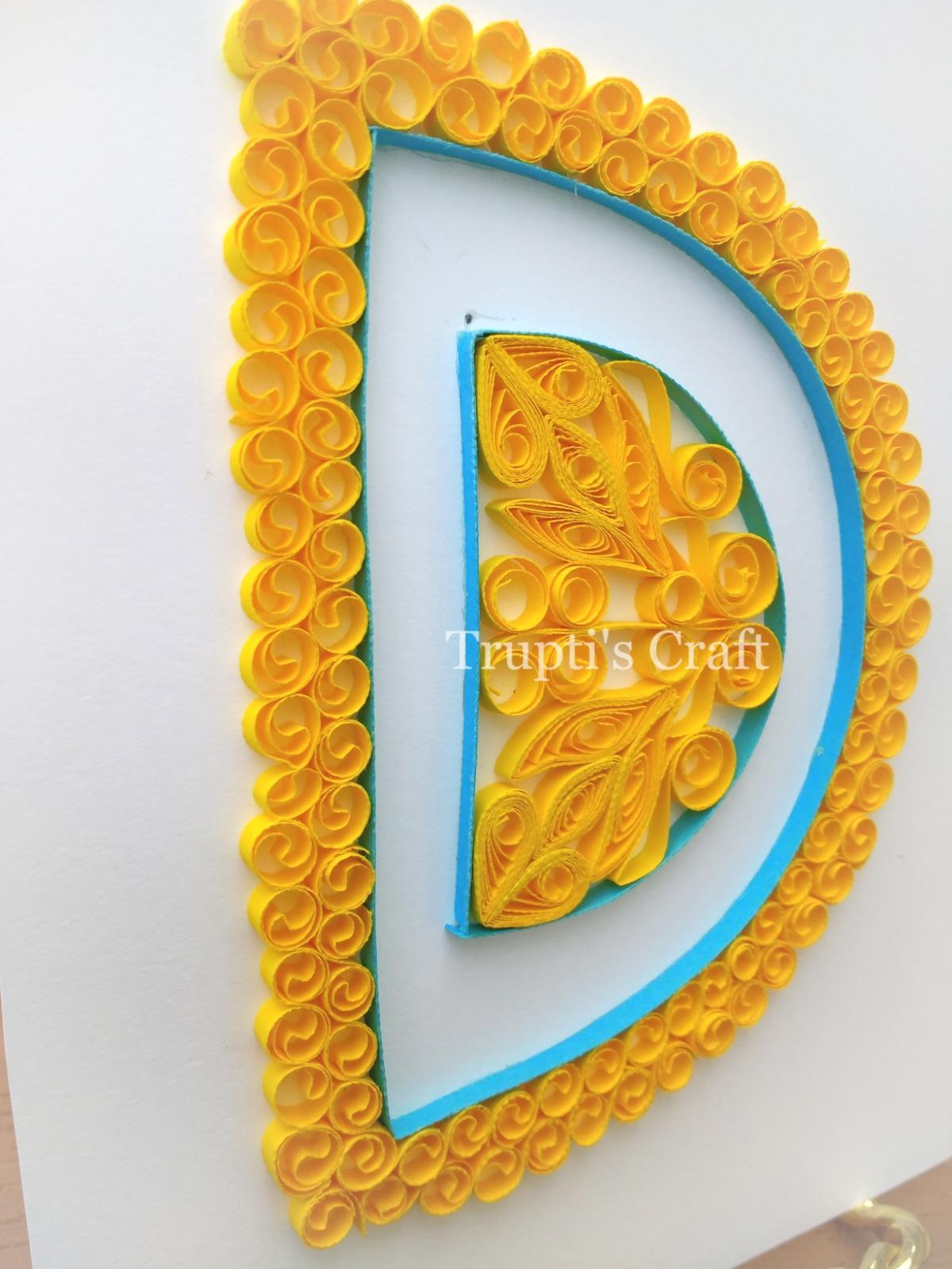 Trupti\'s Craft: Paper Quilling Monogram / Alphabet / Letter D Wall ...